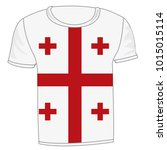 t shirt flag georgia on white...   Shutterstock .eps vector #1015015114