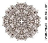 vector mandala pattern of henna ... | Shutterstock .eps vector #1015017484