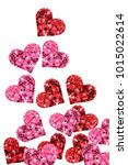 group of red and pink glitter...   Shutterstock . vector #1015022614