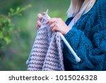 Knitting On Knitting. Hands...