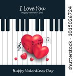 heart piano greeting card music ...   Shutterstock .eps vector #1015026724