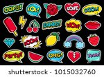 modern cute colorful patch set... | Shutterstock .eps vector #1015032760