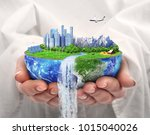 eco concept. city of future.... | Shutterstock . vector #1015040026