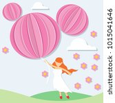 women's day background in paper ...   Shutterstock .eps vector #1015041646