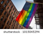 american flag with stars and... | Shutterstock . vector #1015045294