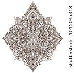 vector pattern of henna floral...   Shutterstock .eps vector #1015045318