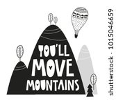 cute mountains  poster for baby ... | Shutterstock .eps vector #1015046659