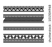 maori   polynesian style tattoo ...   Shutterstock . vector #101504968