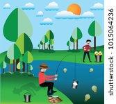 business success concept... | Shutterstock .eps vector #1015064236