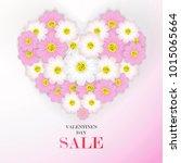 valentine's day sale background ...   Shutterstock .eps vector #1015065664