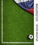 soccer field sport background...   Shutterstock . vector #1015069348