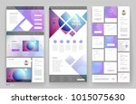 website template design with... | Shutterstock .eps vector #1015075630