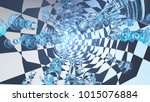 abstract painting. tunnel with... | Shutterstock . vector #1015076884