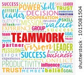 teamwork word cloud collage ...   Shutterstock .eps vector #1015081504