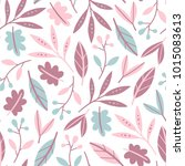 seamless flower pattern. flat... | Shutterstock .eps vector #1015083613