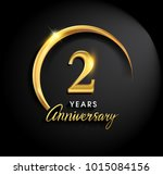 2 years anniversary celebration.... | Shutterstock .eps vector #1015084156