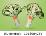 creative funny vegetables.... | Shutterstock . vector #1015084258