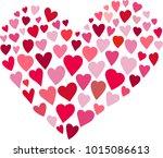 valentines heart form  vector...   Shutterstock .eps vector #1015086613