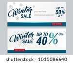 set of winter sale 50 and 40... | Shutterstock .eps vector #1015086640