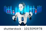 the robot with artificial... | Shutterstock . vector #1015090978