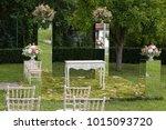 wedding ceremony outside | Shutterstock . vector #1015093720