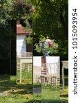 wedding ceremony outside | Shutterstock . vector #1015093954