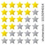 5 star rating. vector...   Shutterstock .eps vector #1015094014
