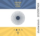sun symbol icon | Shutterstock .eps vector #1015097404
