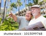 happy senior adult couple... | Shutterstock . vector #1015099768