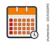 calendar time icon. flat...