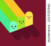funny multicolored fingers ... | Shutterstock .eps vector #1015102960