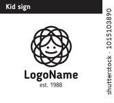 sign on the theme of children's ... | Shutterstock .eps vector #1015103890