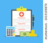 medical insurance  medical care ... | Shutterstock .eps vector #1015105870