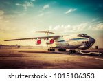 cargo plane aircraft | Shutterstock . vector #1015106353