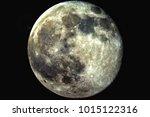 beautiful full moon against a... | Shutterstock . vector #1015122316