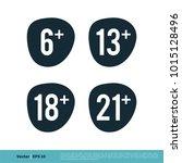 age limit icon vector logo...   Shutterstock .eps vector #1015128496