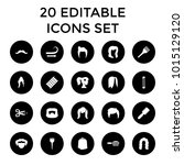 hairstyle icons. set of 20... | Shutterstock .eps vector #1015129120