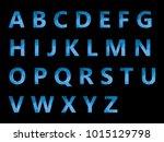 vector alphabet set geometric... | Shutterstock .eps vector #1015129798