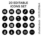 event icons. set of 20 editable ... | Shutterstock .eps vector #1015129864