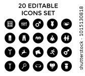 male icons. set of 20 editable... | Shutterstock .eps vector #1015130818