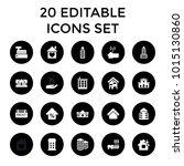 residential icons. set of 20... | Shutterstock .eps vector #1015130860