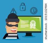theft identity avatar character | Shutterstock .eps vector #1015132984