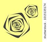 rose. vector flower. beautiful...   Shutterstock .eps vector #1015135174