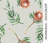 watercolor seamless pattern...   Shutterstock . vector #1015136239