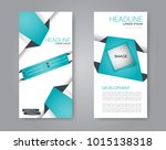 vector flyer and leaflet design.... | Shutterstock .eps vector #1015138318