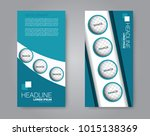 vector flyer and leaflet design.... | Shutterstock .eps vector #1015138369