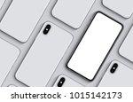 smartphones top view flat lay...