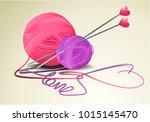 valentine handcraft background... | Shutterstock .eps vector #1015145470
