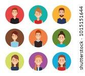 group of people avatars... | Shutterstock .eps vector #1015151644