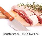 fresh pork isolated | Shutterstock . vector #1015160173